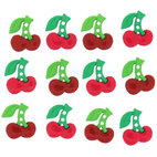 Пуговицы Sew Cute Cherries, 12 шт/уп-ке.