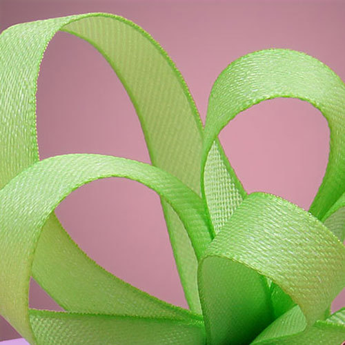 "Лента льняная Lime Linen-Look Ribbon, цвет лайм, шир. 1,0 см ― Интернет-магазин ""Чудо-Ларец"""