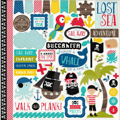 Кардсток - стикер Pirates' Life Cardstock Stickers, размер 30,5 х 30,5 см